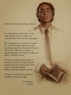 Carl Sagan knows readings best. #CarlSagan #books #reading