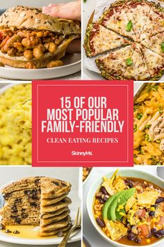 Our most popular family-friendly clean eating recipes are here to provide you with a little inspiration for easy and delicious, kid-approved meals!
