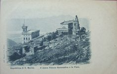 San Marino - The new Government Palace and Church, 1900