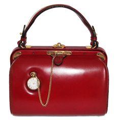 Wonderful Fernande Desgrange bag in box with a pocket watch. 86854b9d1bea6