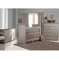 Munire Nursery Set Chesapeake Clic Crib Double Dresser And 5 Drawer Chest In Light Grey Free Shipping