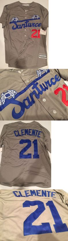Hats and Headwear 123876: Roberto Clemente Santurce Puerto Rico Baseball Retro Jersey Xl -> BUY IT NOW ONLY: $55 on eBay!