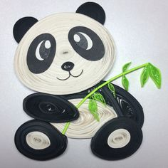Panda love ❤️  Paper Quilling Art ----------------------------------- Facebook: Twists and Curls Unlimited  Instagram: twistsandcurlsunlimited Email Ad: twistsandcurlsunlimited@gmail.com