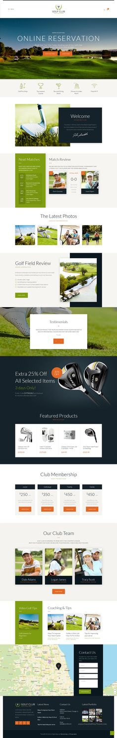 Golf Club is modern and professional responsive #WordPress Theme for #golf…