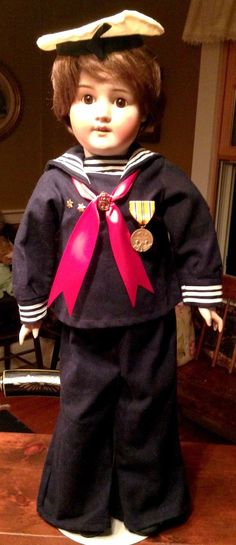 Vintage US NAVY SAILOR Outfit for Vintage, Antique,or Character Doll, Wonderful! | eBay