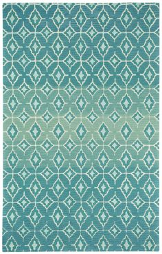 Kevin O'Brien Libson Azul Rug [humanely sheered wool version]