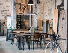 CRAFT INDUSTRY Store Industrial Cafe, Industrial Living, Industrial Style, Industrial Furniture, Industrial Workwear, Urban Industrial, Brewery Design, Cafe Design, Restaurant Design