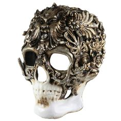 Skull Mask Silver by Balocoloc Venetian Masks