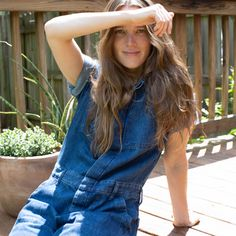 Meet your simplest summer outfit. Designed with a relaxed straight-leg fit, the Super-Soft Summer Jean Coverall features a buttoned front, side pockets, and a short-sleeve silhouette that's great for warm weather. Plus, it's made of lightweight, non-stretch 10 oz organic denim, which is loosely woven with less yarn per inch—for a softness that typically comes from decades of wear.