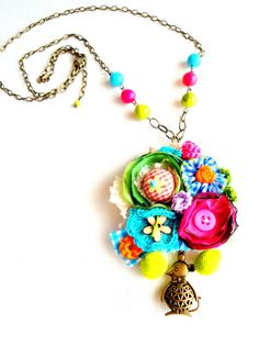 Necklace very fun colorful and vibrant by AnabelaJoana on Etsy, €20.00