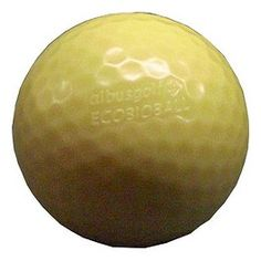 Biodegradable golf balls with fish food inside for hitting balls into the lake Biodegradable Plastic, Biodegradable Products, Volleyball, Basketball, Sports Decor, Fish Food, Golf Ball, Balls, The 100