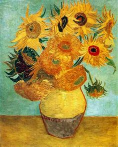 Vincent van Gogh's Sunflower paintings have been duplicated many times by various artists (although never reaching the vivacity and intensity of Van Gogh's) and displayed everywhere; from households to art expos.