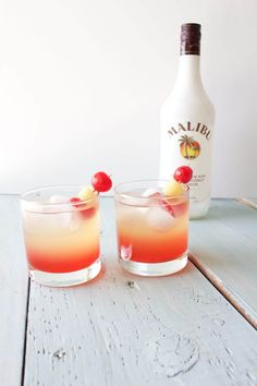 Malibu Sunset Cocktail http://HomemadeFoodJunkie.com