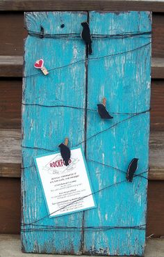 Rustic wood bird on a wire message memo by PolishedExpression, $35.00