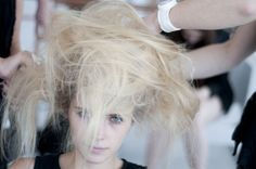 Getting ready backstage at Gregory Parkinson  Lead: Rodney Cutler for Cutler/Redken  Season: Spring 2013