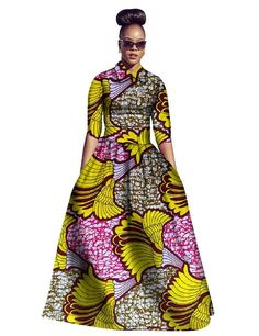 New Runcati Womens African Dress Maxi Dashiki Print Fit and Flare Half Sleeve Expansion 2 Pcs Skirt with Pockets online. Women's Dresses, African Maxi Dresses, African Clothes, Long Dresses, Fit And Flare, Fit Flare Dress, Ethnic Fashion, African Fashion, African Style