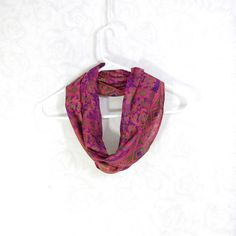 #Sari #Silk #Infinity #Scarf #Spring #Summer #Lightweight #Upcycled #Eco #Fashion by Fibernique on Etsy $18