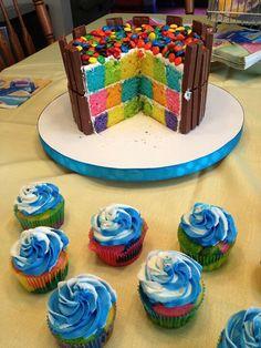 Judy Peak checkerboard cake interior