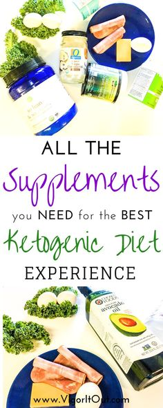 The absolute best Keto supplements to take to get the full range of nutrition on your Ketogenic Diet. Benefits of the phenomenal products on this list include helping to fight the Keto flu, end fatigue, boost energy, and balance your diet.  When starting a Keto Diet plan for beginners for weightloss or overall health, having these supplements and vitamins on hand will make your diet so much easier! #keto #ketodiet #ketosupplements #ketogenic #ketogenicdiet #ketotips
