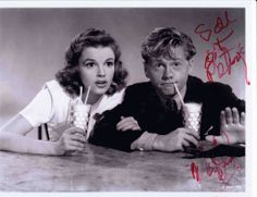 I just came across this photo of Mickey Rooney and Judy Garland that he signed for me 10 years ago! These two were both wonderfully talented - it's so sad that they're no longer with us. #vintage #classic #patsys #nyc