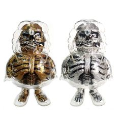 X-Ray Mc Super Sized Gold & Silver Set by Ron English (Secret Base) #xray #mcsupersized #ronenglish #secretbase #popaganda #popculture #mcdonalds #designertoy #vinyltoy #designervinyl