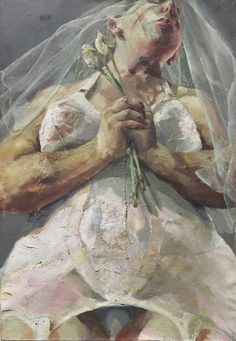 Jenny Saville (British, b. 1970), The Bride, 1992. Oil on canvas, 142.1 x 98.6 cm.