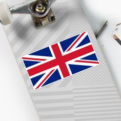 'UK Flag Union Jack' Sticker by ArgosDesigns Great Britain Flag, Bangkok Thailand, Thailand Travel, Italy Travel, Uk Flag, London Eye, Union Jack, Holiday Travel, Wall Tapestry