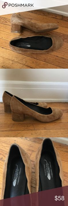 JEFFREY CAMPBELL Tan Shoes In great condition. Only slight discoloring on left shoe (see close up image) Jeffrey Campbell Shoes Slippers