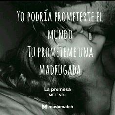 La promesa - MELENDI Hopeless Romantic, Music Is Life, Self Love, Nostalgia, Wattpad, Songs, Quotes, Erika, Play