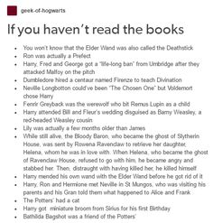 Yes, if you had reading the books you would now that the Harry Potter Fans who only have seen the movies
