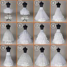 Nuevos 12 Estilos Boda bridal/hoops/hoopless Petticoat resbalones enagua de crinolina in Ropa, calzado y accesorios, Ropa de boda y formal, Accesorios de novia   eBay