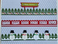 Scrappin' Jpegs: Let it Snow, Let It Snow, Let It Snow with flurries of FUN Christmas Borders made with Creative Memories products Christmas Scrapbook Layouts, Scrapbook Borders, Scrapbook Designs, Scrapbook Embellishments, Scrapbook Page Layouts, Scrapbook Cards, Scrapbooking Ideas, Christmas Themes, Christmas Fun