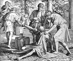Bilder der Bibel - Ham von Noah verflucht - Julius Schnorr von Carolsfeld