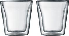 Bodum Canteen 0.1L set 2 stuks  Bodum Canteen 0.1L set 2 stuks: Dubbelwandige Bodum glazen (handgemaakt) Warme dranken blijven langer warm en koude dranken langer koud met deze dubbelwandige glazen van Bodum! Zeer geschikt voor espresso waar in aardewerk kopjes door de temperatuur van het materiaal veel hitte verlore gaat zorgt je Bodum Canteen glas ervoor dat de hitte behouden blijft. De Bodum Canteen 0.1 liter glazen zijn vaatwasserbestendig. Daarnaast is elk van deze glazen individueel…