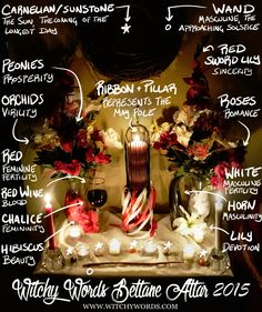 Witchy Words: (Belated) Beltane Altar 2015