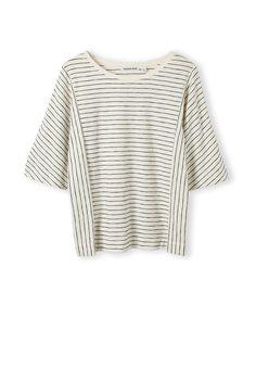 Latest Women's Fashion | Country Road Online - Boxy Stripe Spliced T-Shirt