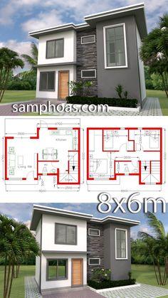 Plan Home Design con 3 habitaciones. Plan Home Design with 3 Bedrooms Plan Home Design with 3 Bedrooms – SamPhoas Plansearch 3d Home Design, Small House Design, Plan Design, Modern House Design, Modern House Plans, Small House Plans, House Floor Plans, Casas The Sims 4, Architecture Design