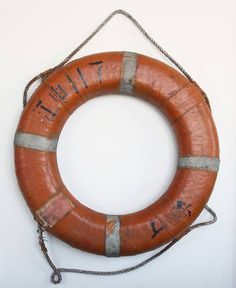 Vintage Life Buoy for Cabana Wall $175