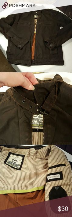 Angelo Litrico weathered look light jacket small Lihht weight bomber style jacket with lots of pockets zipper details. Distressed good used condition Angelo Litrico Jackets & Coats Lightweight & Shirt Jackets
