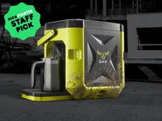 """Now THIS is what I call """"Preparedness"""" ;-)  """"The world's first ruggedized coffee brewer built to perform in the toughest places."""""""