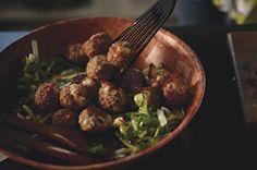 Savory Turkey Meatball Salad recipe