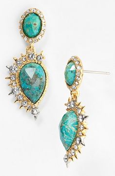Free shipping and returns on Alexis Bittar 'Elements - Muse d'Or' Drop Earrings at Nordstrom.com. Edgy spikes embolden rich semiprecious-stone earrings glimmering with Swarovski inlays.