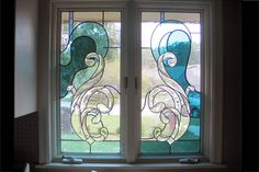 Stain glass windows designs art stained glass stained glass windows d House Design, Glass Painting Designs, Custom Stained Glass, Paint Designs, House Window Design, Stained Glass, Shop Window Design, Glass Blocks Wall, Beautiful Bathrooms