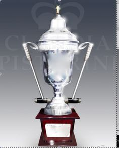 SIMPLY QUITE STUNNING  POLO TROPHY      Handsome +  Unique  Silver Polo Trophy with Polo Mallet Handles, Courtesy of Chisholm Gallery, LLC  $5500