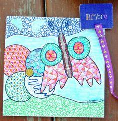 Inspiration Zendala - Fleur et Papillon