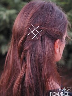 Hair Romance - fun things with bobby pins - pinned back hair with bobby pin decoration #