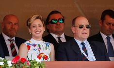 Monaco's Prince Albert II is joined by his daughter at the tennis