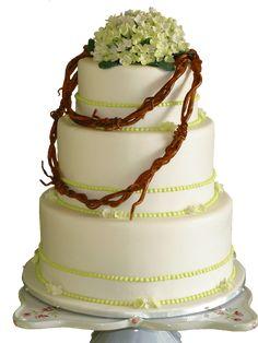Annabelle Hydrangea Country Wedding cake