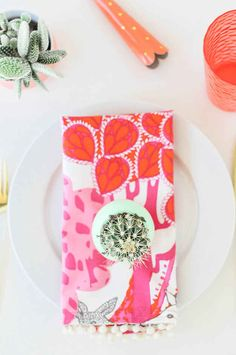 These cloth napkins are a useful and pretty.