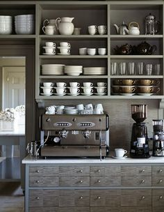 i want a coffee area - but a lot simpler than this lovely spot